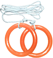 Кольца гимнастические Формула здоровья КГ01А (оранжевый) -