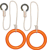 Кольца гимнастические Формула здоровья КГ01В (оранжевый) -