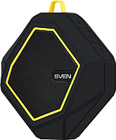 Портативная колонка Sven PS-77 (черный/желтый) -