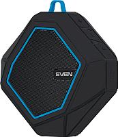 Портативная колонка Sven PS-77 (черный/синий) -