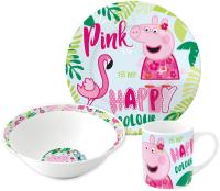 Набор столовой посуды Stor Свинка Пеппа и Фламинго / 20165 -
