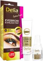 Краска для бровей Delia Cosmetics 3.0 темно-коричневый (15мл) -