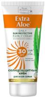 Крем солнцезащитный Health Academy Extra Aloe для всей семьи SPF 30 (100мл) -
