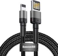 Кабель Baseus Cafule Lightning - USB2.0 / CALKLF-HG1 (2м, черный/серый) -