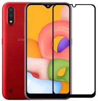 Защитное стекло для телефона Case Full Glue для Galaxy A01 (черный) -
