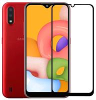 Защитное стекло для телефона Case 111D для Galaxy A01 (черный) -