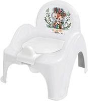 Детский горшок Tega Лисенок / DZ-007-103 (белый/зеленый) -