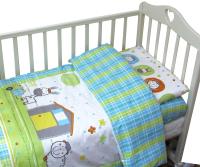 Комплект постельный в кроватку Топотушки Ферма / 351 -