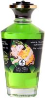 Эротическое массажное масло Shunga Organic Exotic Green Tea с ароматом зеленого чая / 2311 (100мл) -
