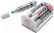 Набор маркеров для доски Pentel Maxiflo MWL5M-4N со стирателем (4шт, ассорти) -