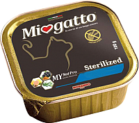 Корм для кошек Miogatto Sterilized Fish&Shrimps (100г) -