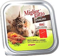 Корм для кошек Miglior Gatto Sterilized Chicken & Lamb (100г) -