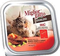 Корм для кошек Miglior Gatto Sterilized Beef, liver & carrots (100г) -