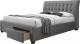 Двуспальная кровать Halmar Percy 160x200 (серый) -