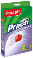 Перчатки одноразовые Paclan Practi виниловые (M, 10шт) -