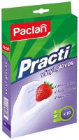 Перчатки одноразовые Paclan Practi виниловые (L, 10шт) -