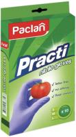 Перчатки одноразовые Paclan Practi Нитриловые (M, 10шт) -