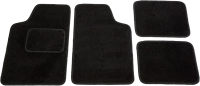 Комплект ковриков Kovriki Универсальные 45x65 и 43x32 (4шт, черный) -