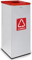 Контейнер для мусора Alda Eco Prestige 9028203 (серый/красный) -