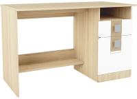 Письменный стол Аквилон Стиль №17 (туя светлая/кофе с молоком) -