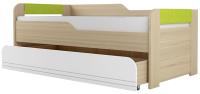 Двухъярусная выдвижная кровать детская Аквилон Стиль №900.1 (туя светлая/лайм) -
