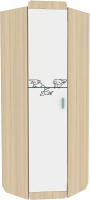 Шкаф Аквилон Кот №3 (туя светлая/белый) -