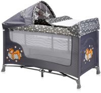 Кровать-манеж Lorelli San Remo 2 Plus Grey Clouds (10080082073) -
