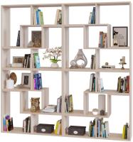 Стеллаж Сокол-Мебель Из 8 модулей (беленый дуб) -