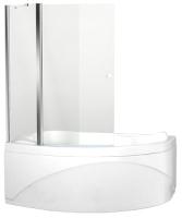 Стеклянная шторка для ванны Aquanet Alfa 100x100 / NAA5142 (прозрачное стекло) -