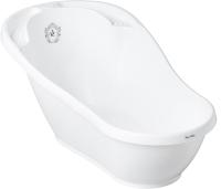 Ванночка детская Tega Роял Бэби со сливом / RL-004-103-С (белый/черный) -