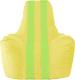 Бескаркасное кресло Flagman Спортинг С1.1-256 (жёлтый/салатовые полоски) -