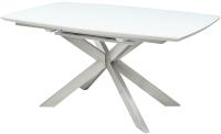Обеденный стол Дамавер Crystal 160 / CRYST6570WHT -