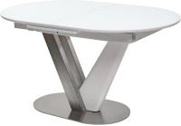 Обеденный стол Дамавер Victor 140 / HT8075GNWHT -