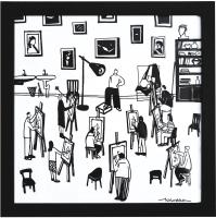 Авторская картина ХO-Gallery Студенты / ЕХ-2020-004 -