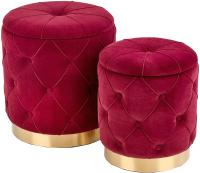 Комплект мягкой мебели Halmar Polly / V-CH-Polly-Pufa-Bordowy (бордовый/золото) -