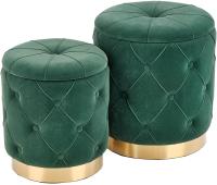 Комплект мягкой мебели Halmar Polly / V-CH-Polly-Pufa-C.Zielony (темно-зеленый/золото) -
