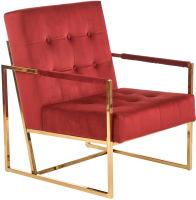 Кресло мягкое Halmar Prius (бордовый/золото) -