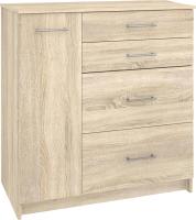 Комод Кортекс-мебель Модерн 90-1д4ш (дуб сонома) -