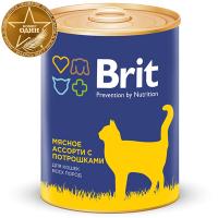 Корм для кошек Brit Premium Beef and Offal Medley / 9433 (340г) -