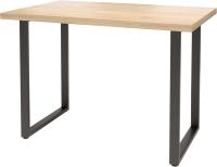 Обеденный стол Millwood Лофт Ницца Л 130x80x75 (дуб золотой Craft/металл черный) -