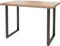 Обеденный стол Millwood Лофт Ницца Л 130x80x75 (дуб табачный Craft/металл черный) -
