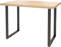 Обеденный стол Millwood Лофт Ницца Л 160x80x75 (дуб золотой Craft/металл черный) -