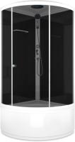 Душевая кабина Domani-Spa Simple High / DS01S99HBM00 (черный/тонированное стекло) -