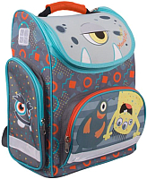 Школьный рюкзак Gulliver Монстрик Гошик / M19 (серый) -