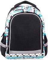 Школьный рюкзак Gulliver С пикси-дотами / MC-3191-2 (черный) -