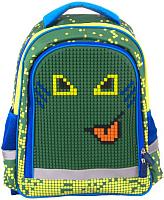 Школьный рюкзак Gulliver С пикси-дотами / MC-3191-3 (зеленый) -