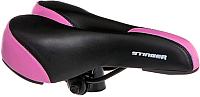 Сиденье велосипеда Stinger GW608А-1 / Р66583 (черный/розовый) -
