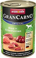 Корм для собак Animonda GranCarno Original Adult с говядиной и сердцем утки (400г) -