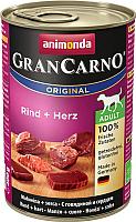 Корм для собак Animonda GranCarno Original Adult с говядиной и сердцем (400г) -
