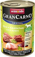 Корм для собак Animonda GranCarno Original Adult с говядиной и кроликом с травами (400г) -